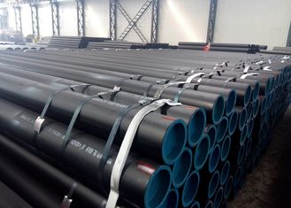 PSL1 Seamless Saw Line Pipe API 5L X60 Caron Steel Oil / Gas Transmission