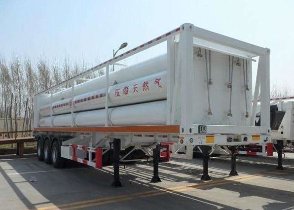 High Pressure CNG Gas Cylinder , Seamless Cng Storage Tanks Semi