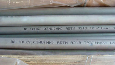 China Heat Exchanger High Pressure Stainless Steel Tubing / Pipe ASTM A312 TP321 distributor
