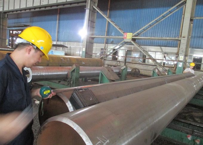 P12 NDE Seamless Alloy Steel Pipe Plain / Bevel End Nominal Wall Thickness